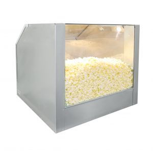 Bulk Popcorn Floor Display Warmer, one compartment, with a lighting