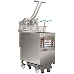 Semiautomatic deep fryer for fast food market