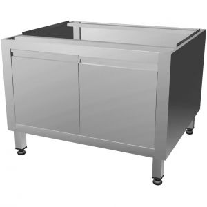 Base for the CHB-2T Char broiler is made completely of stainless steel, wing doors