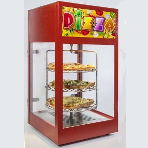 Pizza Display Warmer with humidification is suitable for short-term storage