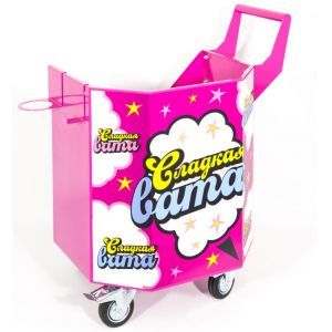 Cotton candy cart , octahedral, small wheels