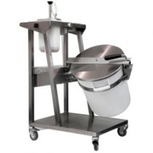Motorized mixer-coater, mounted on a mobile base, for flavoring and coating popcorn
