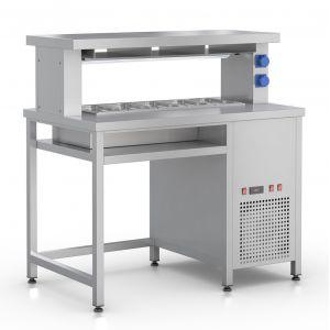 СФ-125Т – стол фасовочный пристенный с охл. ванной и тепловой пов.