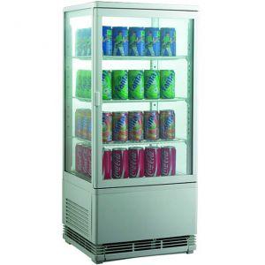 Витрина холодильная настольная, вертикальная, L0.43м, 68л, 3 полки-решетки, 0/+12С, дин.охл., белая