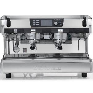 Кофемашина-полуавтомат, 2 группы (выс.), мультибойлерная, белый жемчуг, 380V, подогреватель чашек