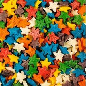 Посыпка для мороженого и десертов Звезды разноцветные 750г