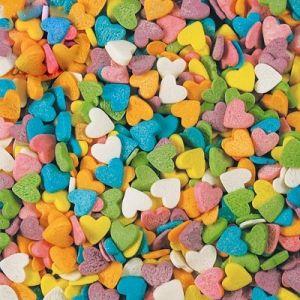 Посыпка для мороженого и десертов Сердечки разноцветные 750г