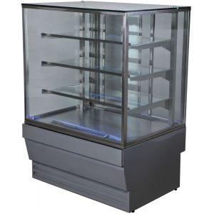 Витрина холодильная напольная Технобалт Прага Куб 0,9 RAL 9006