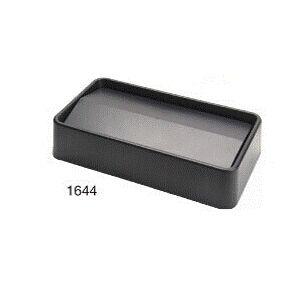 Крышка для контейнера SLIM откидными дверцами, пластик серый