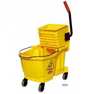 Комплект для мытья полов COMBO с отжимом 33л, пластик желтый
