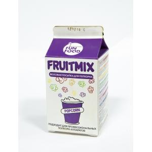 Добавка вкусоароматическая для карамелизации попкорна FUNFOOD CORPORATION EAST EUROPE FRUITMIX голубая малина