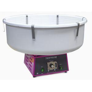 Аппарат сахарной ваты, горизонтальная подача, 3kg/h., пласт. ловитель, ТЭН, цвет корпуса розовый (RAL4010)