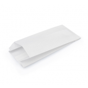 Пакет бумажный 205х90х40мм плоское дно белый