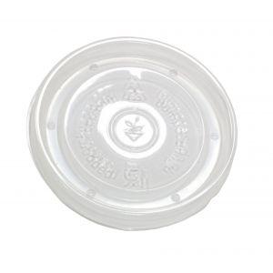 Крышка для контейнера D 90мм плоская PP прозрачная