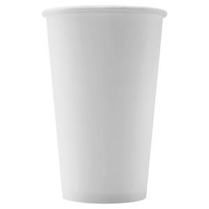 Стакан бумажный для горячих напитков 400мл белый