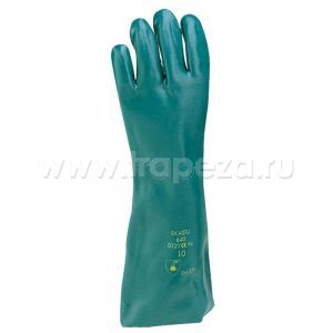 Перчатки L 61см (пара) цвет зелёный, поливинилхлорид