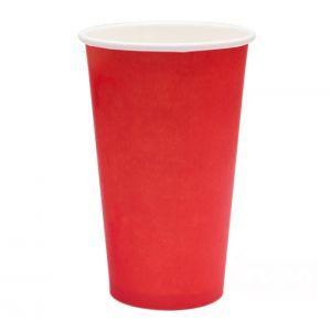 Стакан для горячих напитков RED 400мл бумага