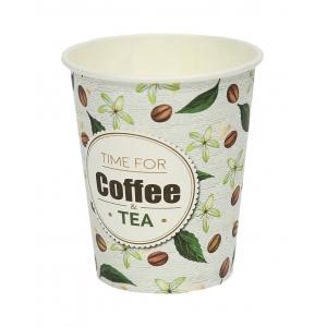 Стакан для горячих напитков Coffee&Tea 250мл бумага