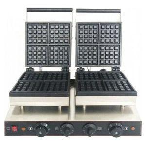 Вафельница электрическая настольная для вафель «бельгийских», 2 поверхности квадратные чугун, 8 сегментов, упр.электромех., таймер (некондиция) ENIGMA IWB-2S