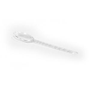 Ложка чайная 125мм пластик прозрачный