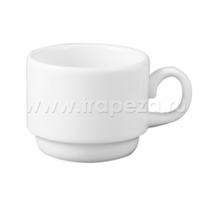 Чашка 100мл DURALINE штабелируемая, фарфор