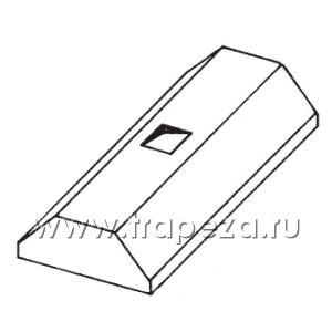 Зонт вытяжной островной, 2200х1800х450мм, реш.фильтры FR/F, трапецией, нерж.сталь, без подсветки, без отверстия Metaltecnica C 1180220+8xFR/F
