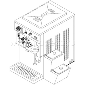 Шейк-машина, 1 раздат.узел, 54л/ч, доп. миксер, конт. д/топингов (б/у (бывший в употреблении)) Sani Serv 601 V/A BK