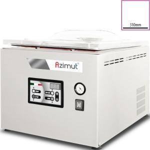 Машина для вакуумной упаковки, настольная, 1 камера 343х434х175мм, электронное управление, 1 шов 310мм, насос 12м3/ч, инертный газ