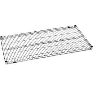 Полка решетчатая для стеллажа, 1066х355х31мм, сталь с покрытием хромоникелевым, для сухих помещений (Некондиция) Metro 1442NC