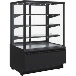 Витрина холодильная напольная ПОЛЮС KC70 VV 0,9-1 9005 (ВХСв-0,9д CARBOMA CUBE Люкс)