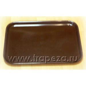 Поднос l 55,9см w 40,6см прямоугольный, пластик (коричневый) VOLLRATH 86293