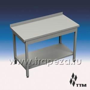 SR1-150/7P - стол рабочий усиленный, 1 борт, полка
