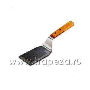 Лопатка изогнутая l 12,1см w 7,6см с деревянной ручкой, нерж.сталь VOLLRATH 48080