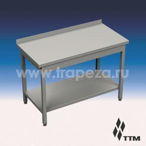 SR1-060/7P - стол рабочий усиленный, 1 борт, полка
