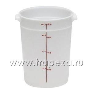 Контейнер 7,6л D 25,2см h 27,6см с градуир., полиэтилен
