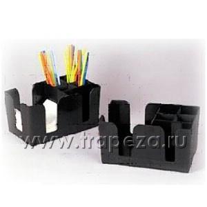 Подставка для салфеток и украшений, черный пластик
