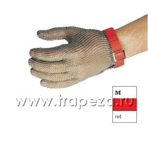 Перчатка кольчужная М (размер 8 - М красный)