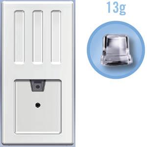 Льдогенератор-дисп. д/куск.льда, 26кг/сут, бункер, вод.охл., белый