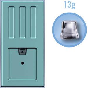 Льдогенератор-дисп. д/куск.льда, 26кг/сут, бункер, вод.охл., зеленый