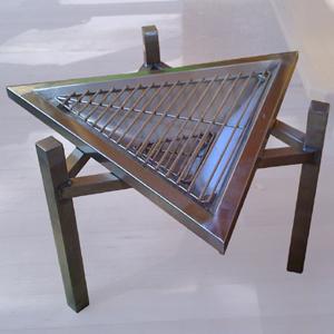 Мангал треугольный, нерж. сталь