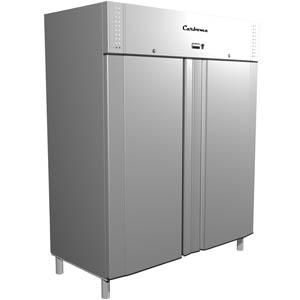 Шкаф холодильный, 1320л, 2 двери глухие, 8 полок, ножки, -5/+5С, дин.охл., серый