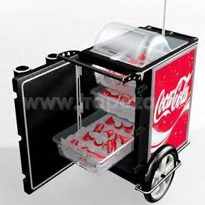 Кинотеатр, фанфуд, стритфуд тележки для торговли Lancer Smart Cart PET