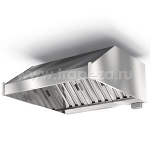 ЗВПК-0809Д - зонт пристенный «кепкой», б/подсветки, патрубок Д315мм