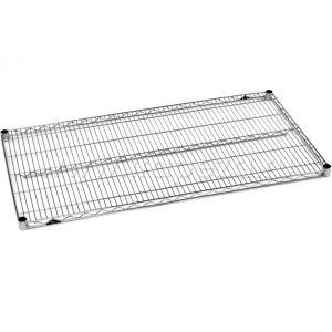 Полка решетчатая для стеллажа, 1219х355х31мм, сталь с покрытием хромоникелевым, для сухих помещений