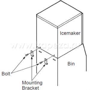 Комплект для установки льдогенератора FM170-300*-HC-480*-HC-600 HOSHIZAKI TOP KIT 8 D