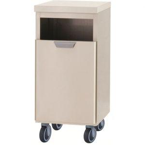 Модуль барный нейтральный для мусора,  400х550х900мм, без борта, 1 ящик выдв., ролики, нерж.сталь