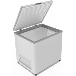Ларь морозильный, 240л, 1 крышка глухая плоская распашная, -12/-25С, 1 корзина, колеса, белый, R134a