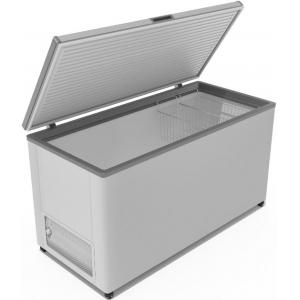 Ларь морозильный, 450л, 1 крышка глухая плоская распашная, -12/-25С, 2 корзины, колеса, белый, R134a
