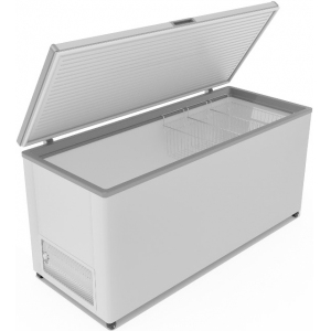Ларь морозильный, 520л, 1 крышка глухая плоская распашная, -12/-25С, 3 корзины, колеса, белый, R134a