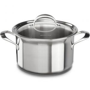 Кастрюля KitchenAid, 7.57л с крышкой (5 Ply Copper Core), нерж.сталь